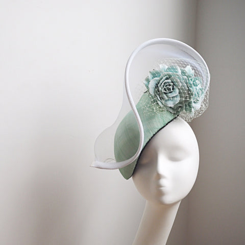Mint Green Elegant Headpiece - NOELEEN MILLINERY HONG KONG