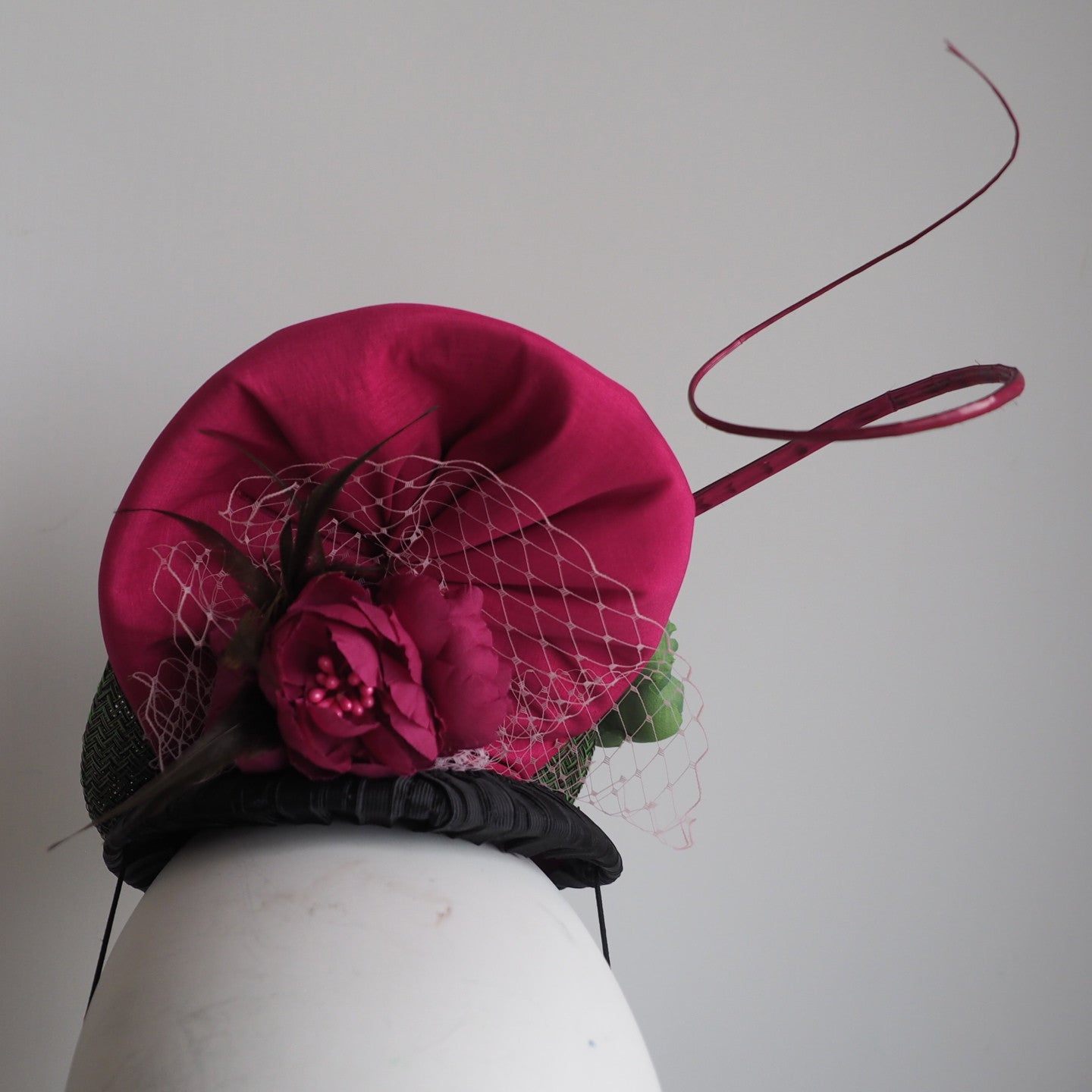 Chelsea Girl - Floral Headpiece/Statement Hat Made to Order contact us - NOELEEN MILLINERY HONG KONG