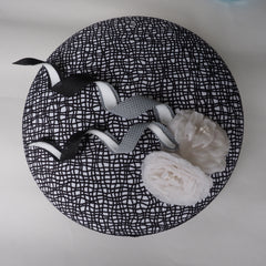 Graphic Classic statement hat in Black and White - NOELEEN MILLINERY HONG KONG