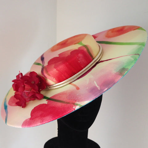 Spring Racing Hat - Silk hat in spring colors - NOELEEN MILLINERY HONG KONG