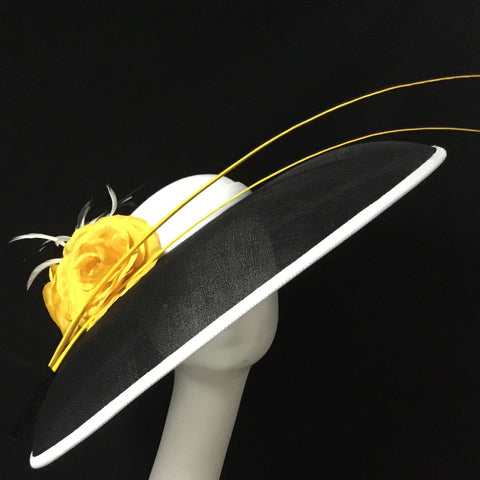 Marian - Large Oval shape wide brim Hat - NOELEEN MILLINERY HONG KONG