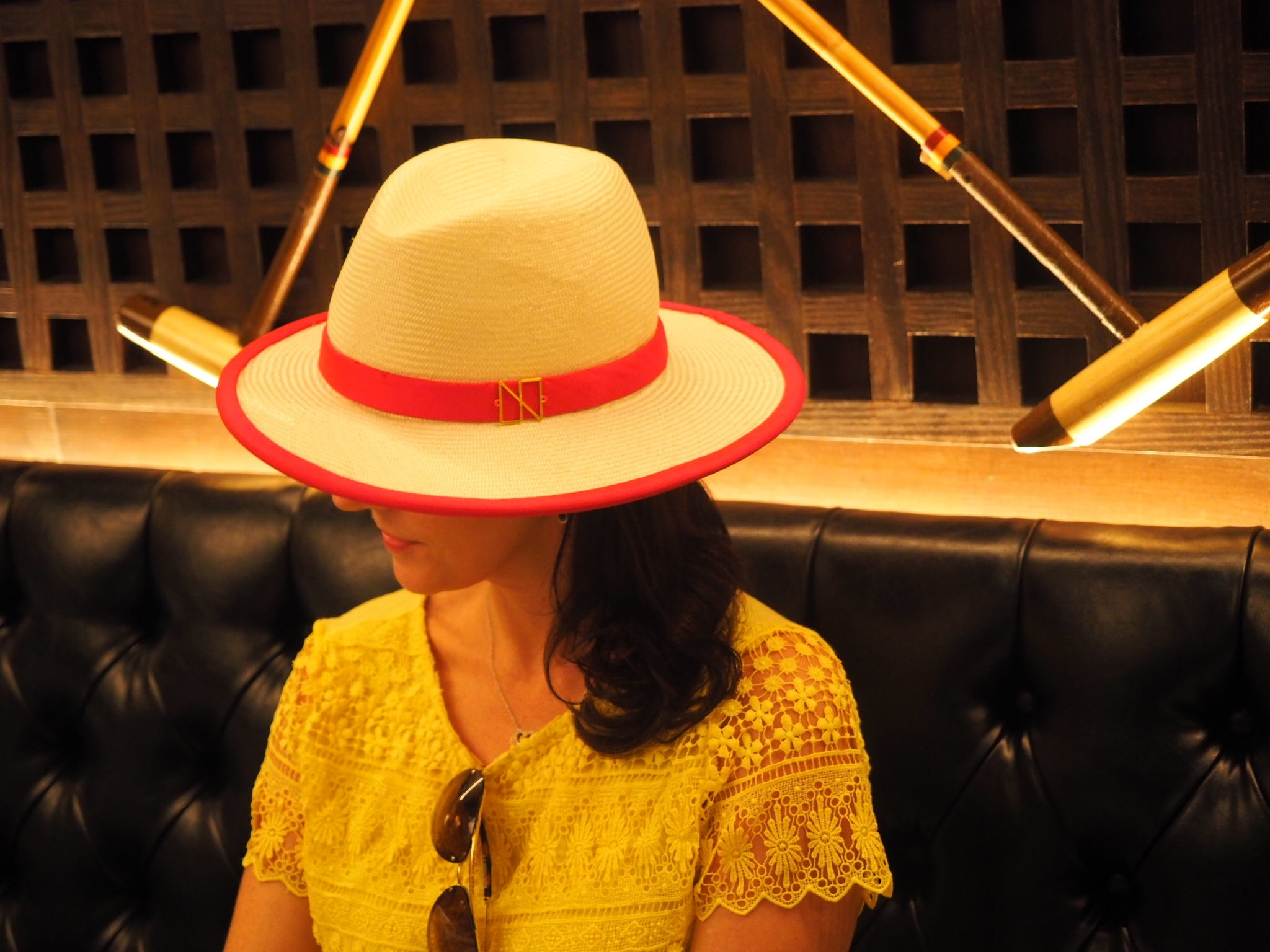Millennial Muse - Irregular shaped funky fedora hat handcrafted - NOELEEN MILLINERY HONG KONG