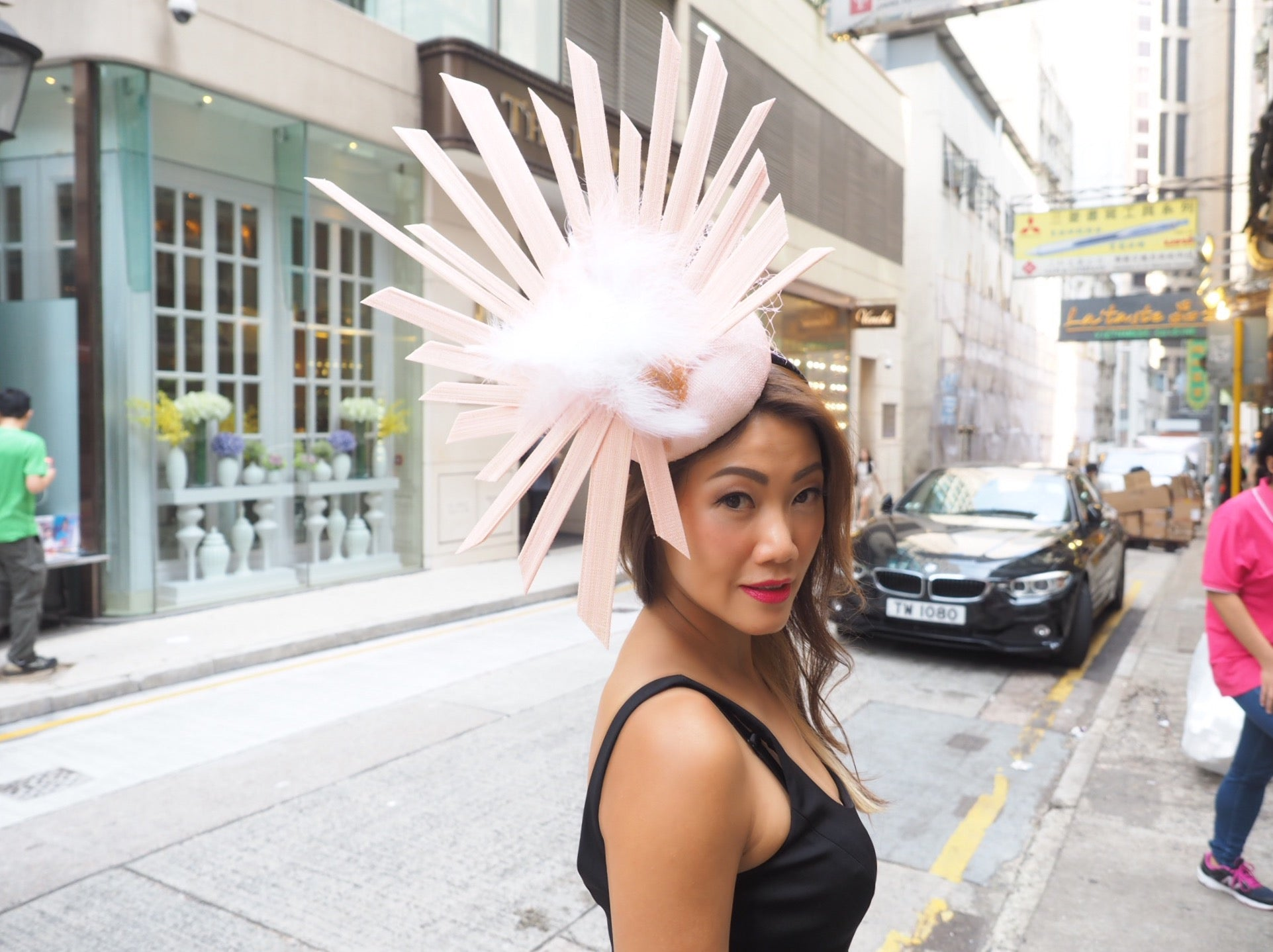 The Halo Effect - Light pink Large Statement Hat - NOELEEN MILLINERY HONG KONG