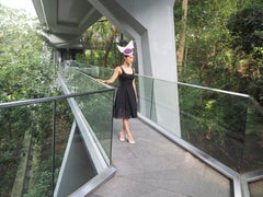 Audrey - Purple and Pink Silk sculptural hat for races or wedding