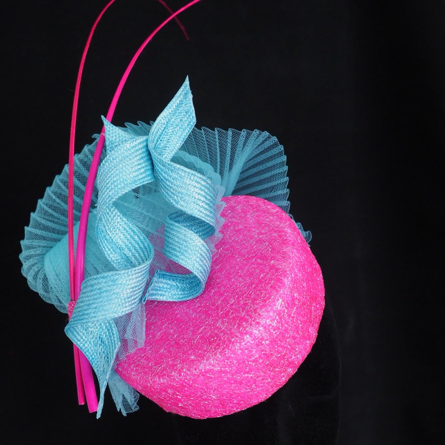 Little Pink Pill - Sassy pillbox hat handcrafted - Couture millinery - NOELEEN MILLINERY HONG KONG