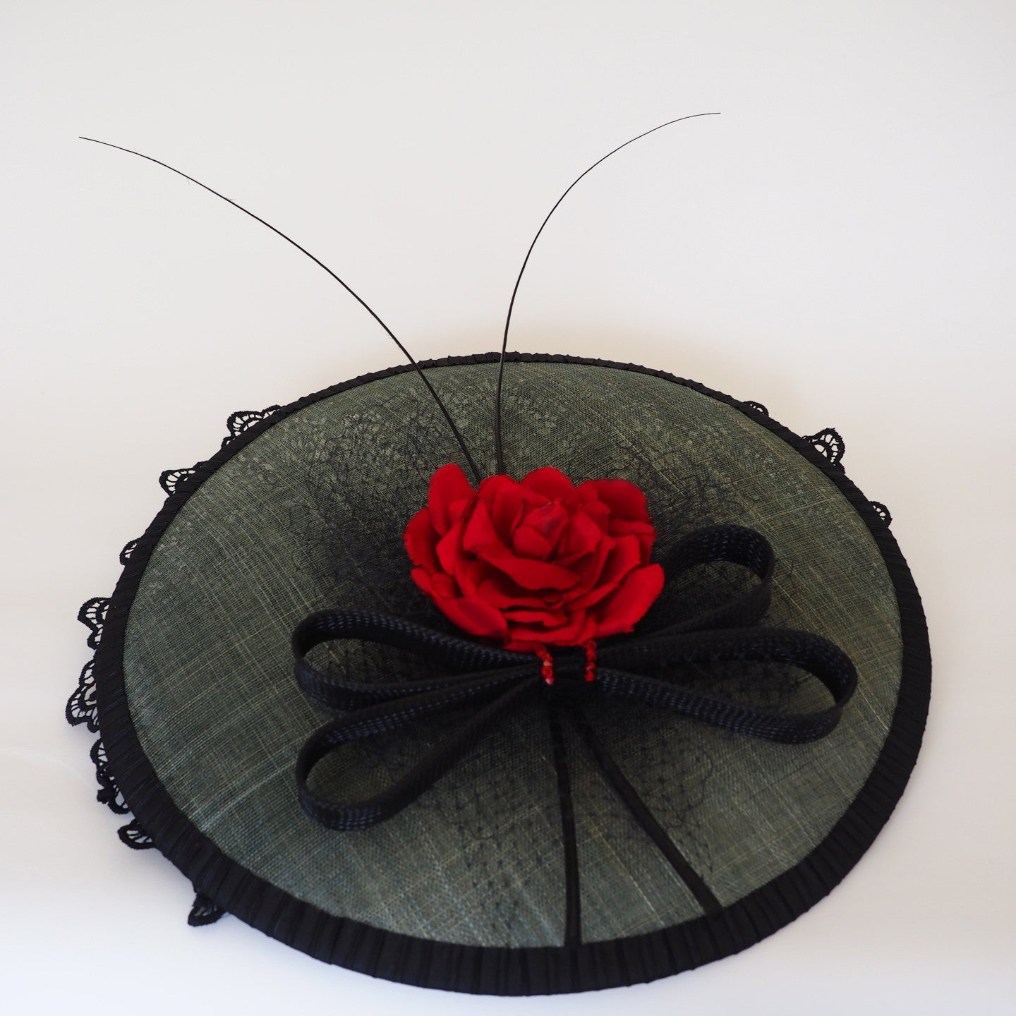 Sasa Rose Large Saucer Hat Made To Order Available In Other Colour Noeleen Millinery Hong Kong