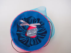 Diamond in the Sky - Bright pink and sky blue modern chic fascinator. - NOELEEN MILLINERY HONG KONG