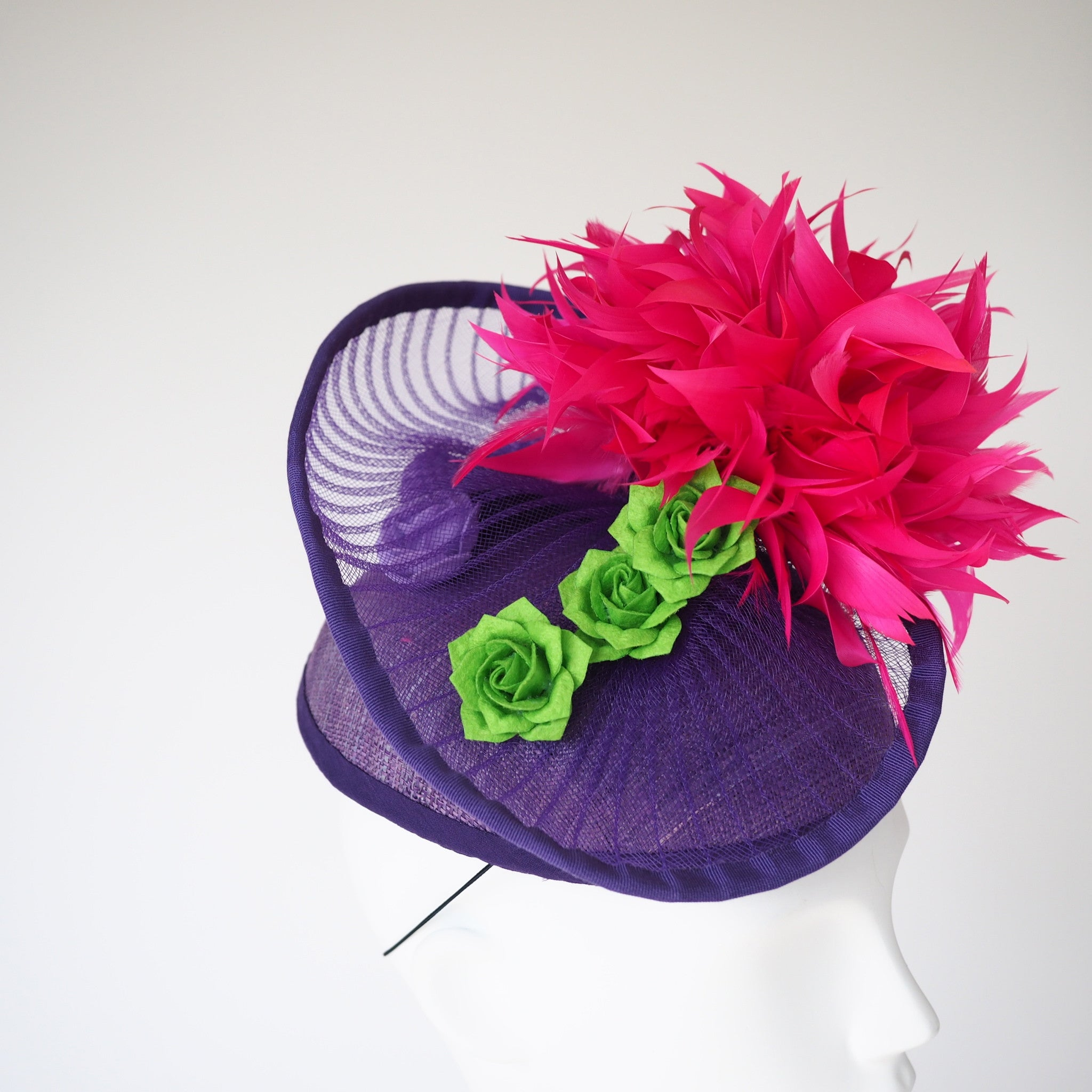 Electric Waterlily - Contact us for custom hat - NOELEEN MILLINERY HONG KONG