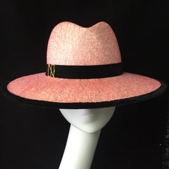 Shimmer - Pink iridescent Fedora/Panama style Hat - NOELEEN MILLINERY HONG KONG
