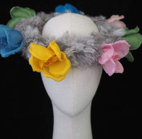 Flower Winter Boho Chic Headpiece - NOELEEN MILLINERY HONG KONG