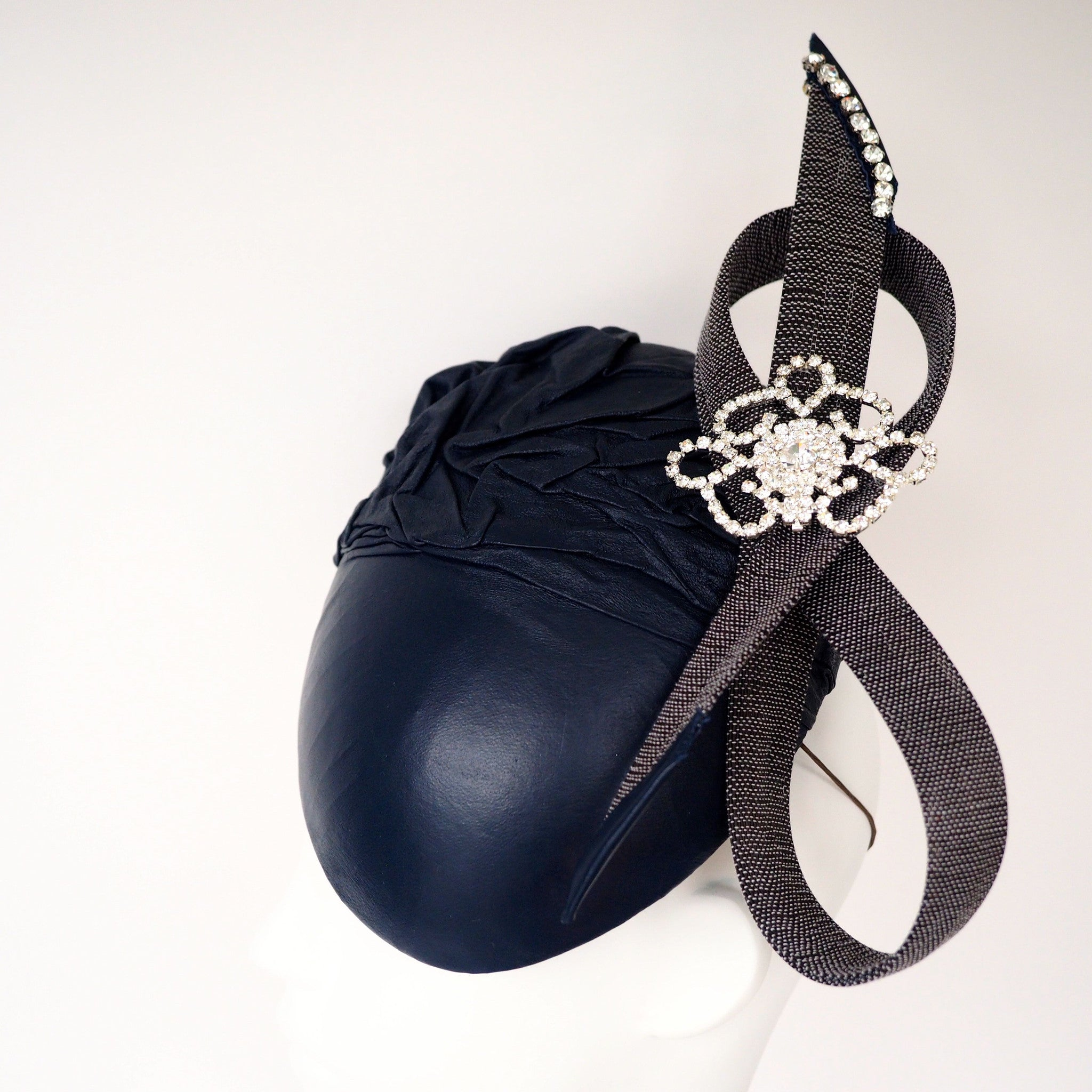 MODECO - Made to order Unique Leather hat - available in other colours - NOELEEN MILLINERY HONG KONG