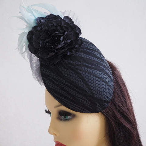 Sassy Glam - Made to Order- Unique Glamorous percher hat available in many colours - NOELEEN MILLINERY HONG KONG