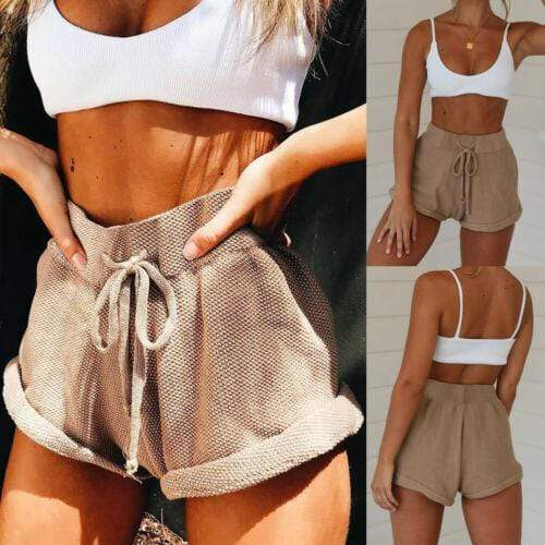 Sunkissed High Waist Tie Belt Shorts
