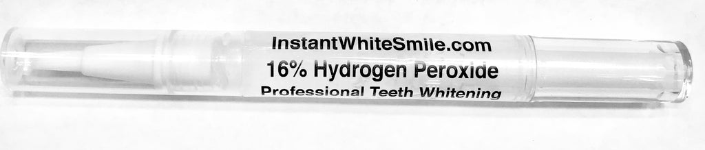 Instant White Smile's 16% Hydrogen Peroxide Teeth Whitening Gel Pen - Instant White Smile