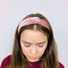 Load image into Gallery viewer, Iris Blush Corduroy Headband - Tartiz Inc