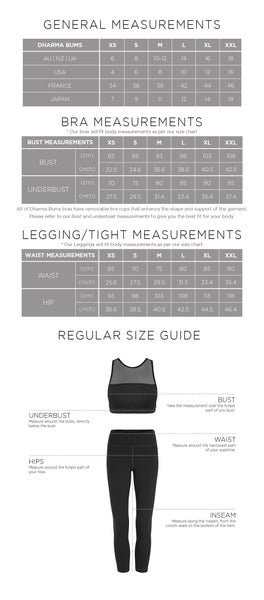 Dharma bums size guide