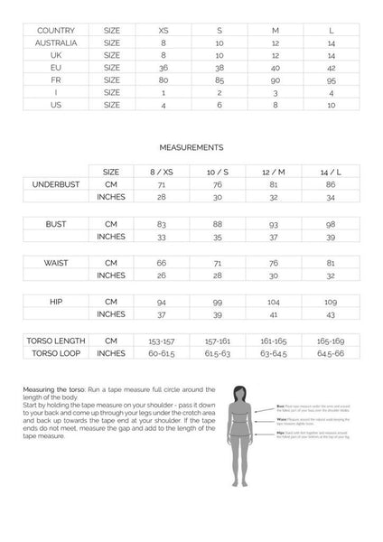 Horizon athletic size guide