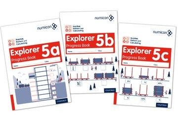 Numicon Number Pattern and Calculating 5 Explorer Progress Books ABC Mixed pack