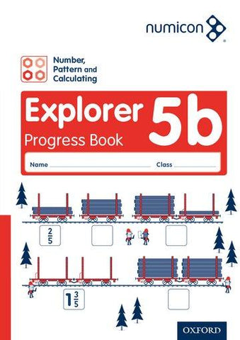 Numicon Number Pattern and Calculating 5 Explorer Progress Book B Pack of 30