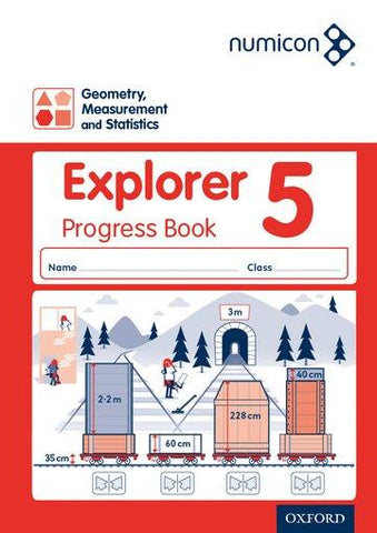 Numicon Geometry Measurement and Statistics 5 Explorer Progress Book Pack of 30