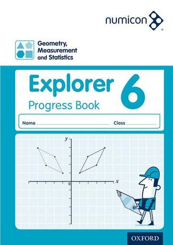 Numicon Geometry, Measurement and Statistics 6 Explorer Progress Book Pack of 30