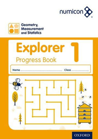 Numicon Geometry, Measurement and Statistics 1 Explorer Progress Book (Pack of 30)