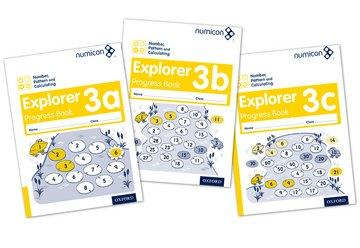 Numicon Number, Pattern and Calculating 3 Explorer Progress Book A,B,C (Mixed Pack)