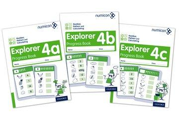 Numicon Number, Pattern and Calculating 4 Explorer Progress Book A,B,C (Mixed Pack)