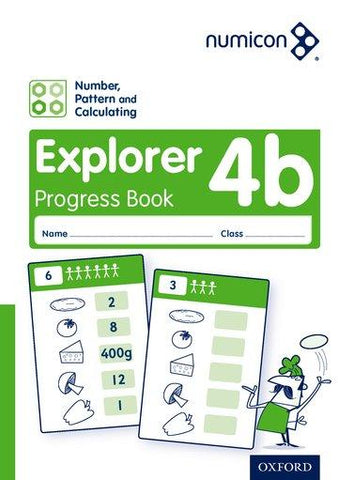 Numicon Number, Pattern and Calculating 4 Explorer Progress Book B (Pack of 30)