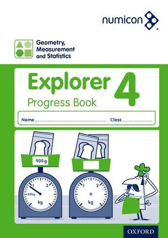 Numicon Geometry, Measurement and Statistics 4 Explorer Progress Book (Pack of 30)