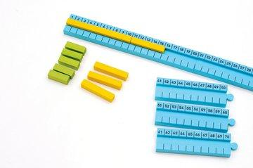 Numicon 1-100cm Number Rod Track