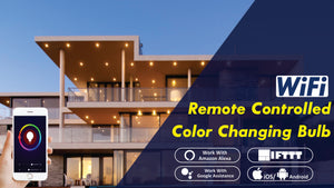 WiFi Remote Controlled Color Changing Smart Bulb for Decorate Your House