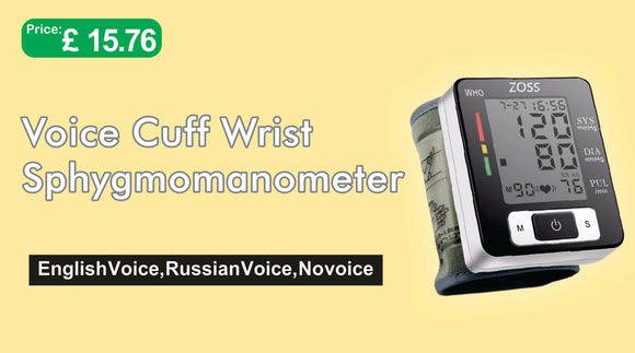 English or Russian voice cuff sphygmomanometer