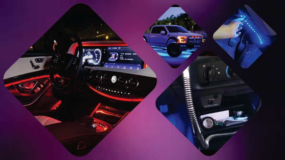 footwell Light Emitting Diode strip lights for your car interior