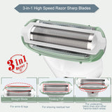 3 in 1 design body hair removal