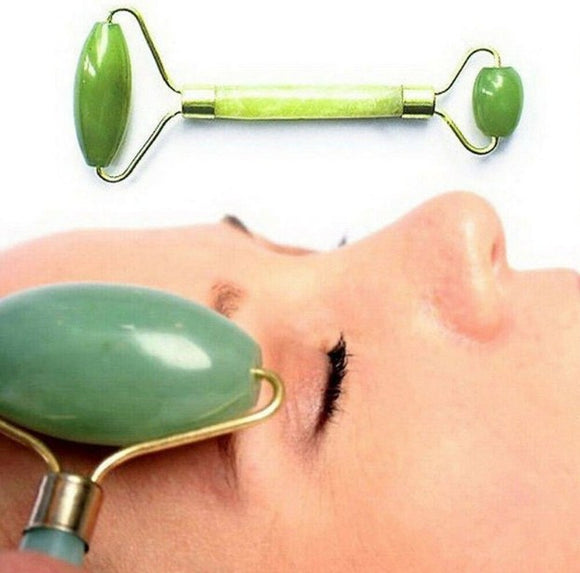 Jade Roller Uk Face Massage Beauty Tool Facial Eye Neck Body Anti-Ageing Therapy