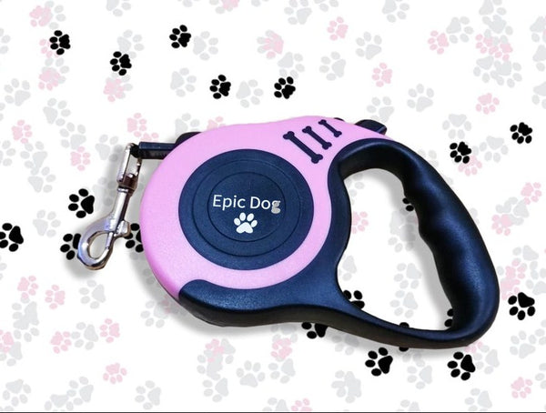 Epic Dog Retractable Extending Lead Leash Soft Grip Long Reach Clip 5m 3m 50 kg - Rayyandirect