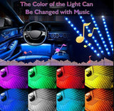 Car Interior Footwell LED Strip Lights RGB Multicolour Remote Atmosphere Lamp
