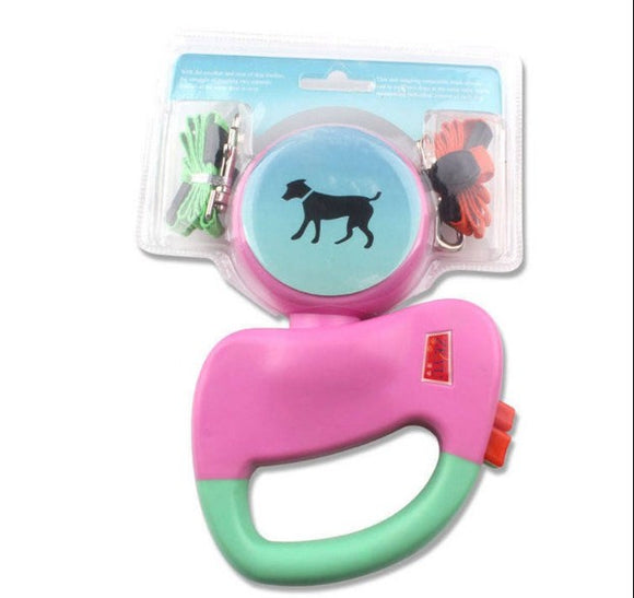Automatic Double Dual Retractable Dog Collar