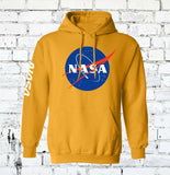 yellow type nasa space hoodie