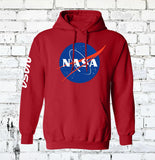 red nasa space hoodi