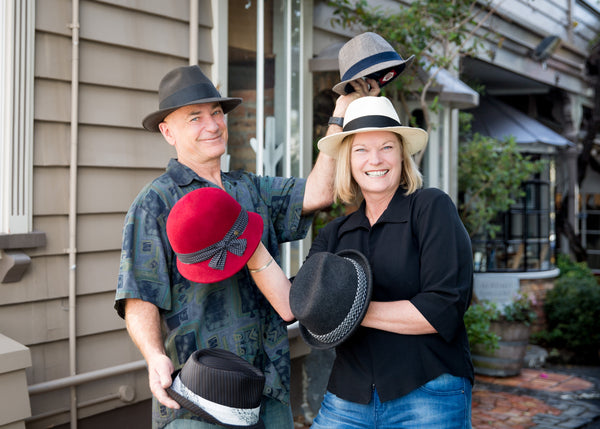 Hattitude, about us - owners Sharon & Nigel