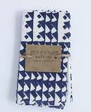 Indigo Triangle Napkins
