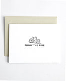 Enjoy the Ride letterpress greeting card