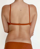 Organic Cotton Bra - Rust