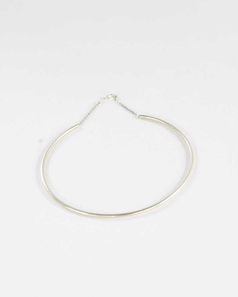 Simple Cuff Necklace - Silver