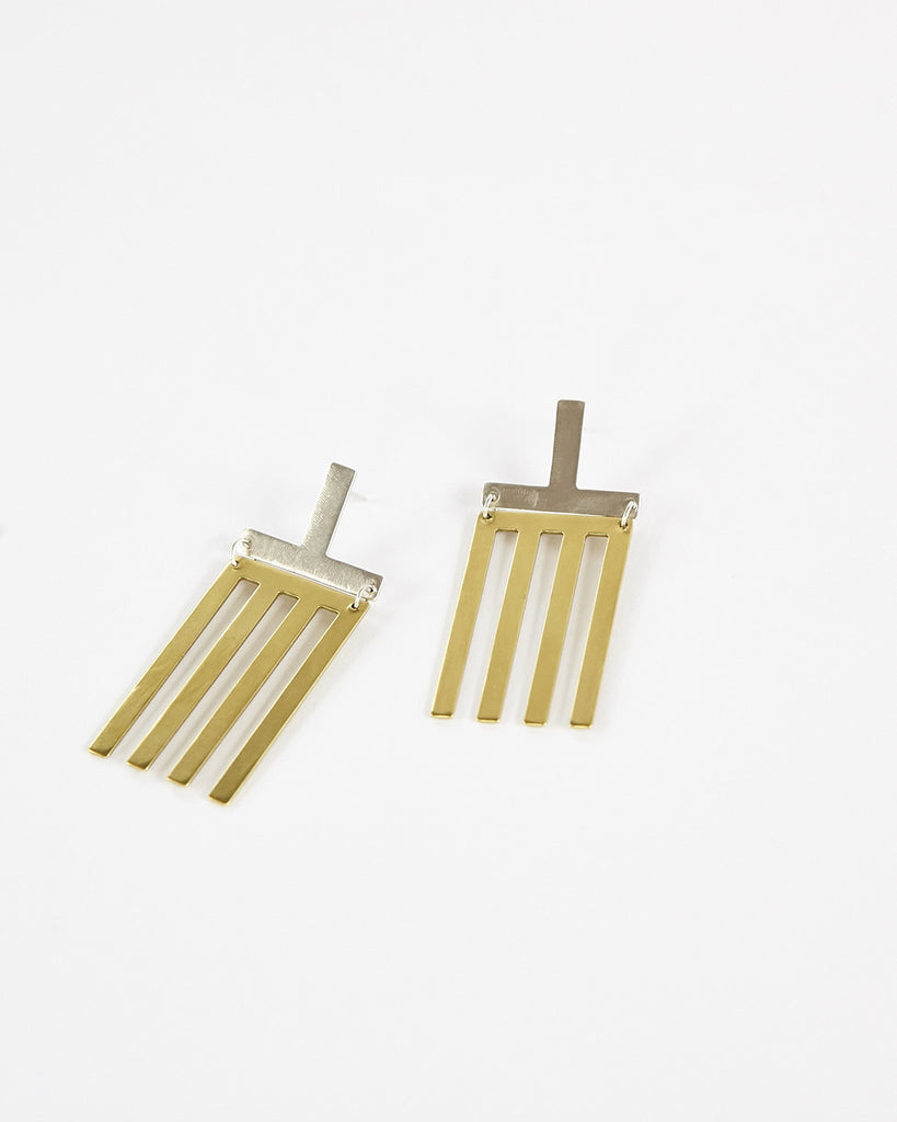 T Line Earrings