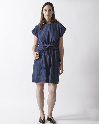 Piped Dress - Navy