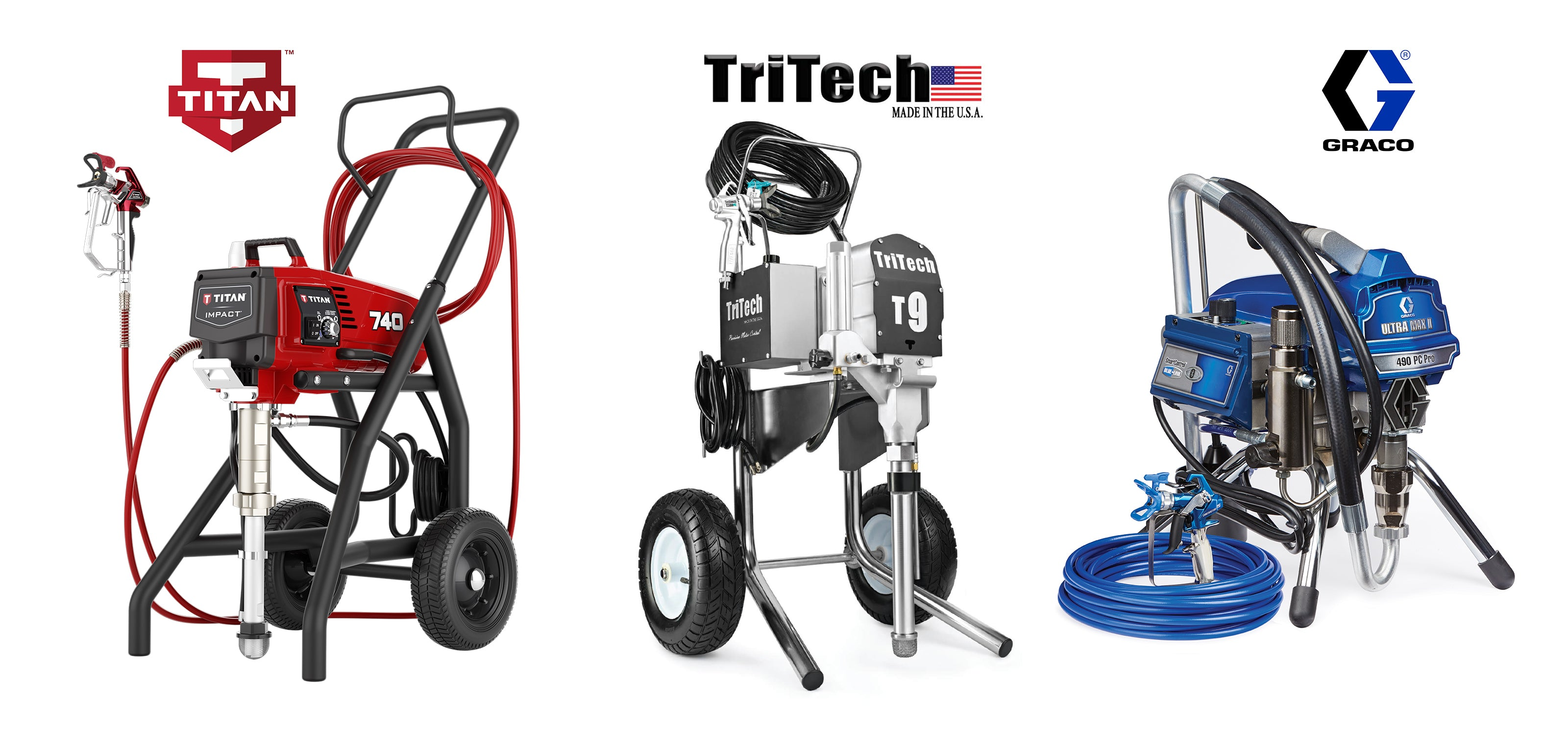Titan-TriTech-Graco-airless sprayers