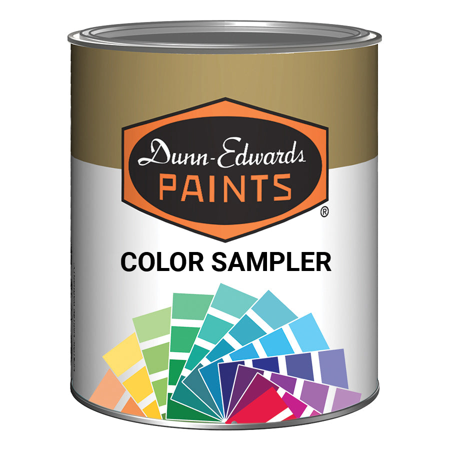 Dunn Edwards 8oz color sampler available in eggshell finish only